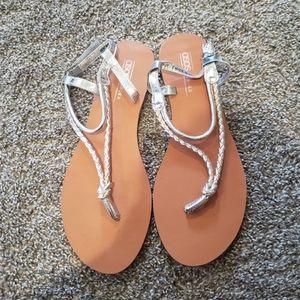 ASOS silver dress sandals
